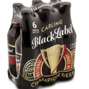 Carling Black Label Bottle 6 x 330 ml (BA34)