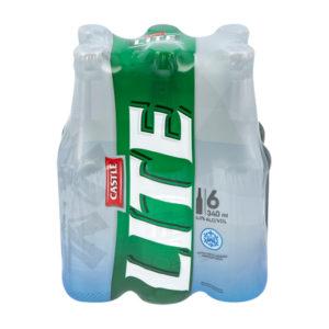 Castle Lite Bottle 6 x 340ml (BB24)