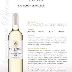 Lutzville – Sauvignon Blanc 2020 (W16)