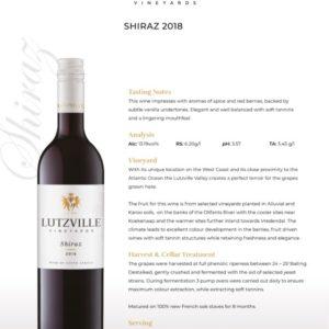 Lutzville – Shiraz 2018 (W02)